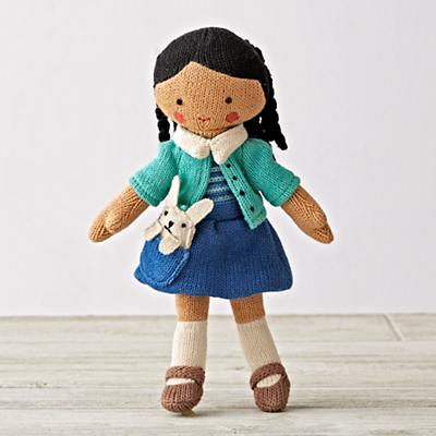 Knit Crowd Toddler Doll Brunette