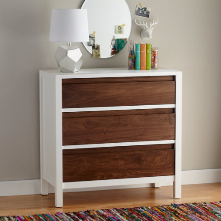 Walnut Andersen 3-Drawer Dresser