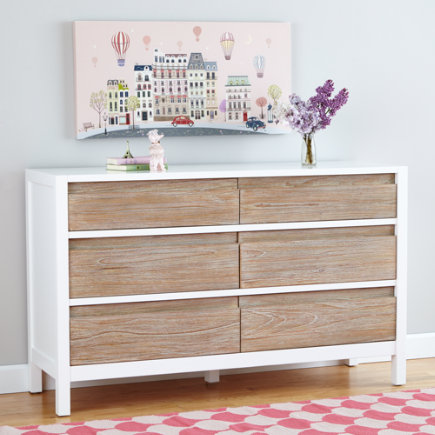 Whitewash  Andersen 6-Drawer Dresser - Whitewash Andersen 6 Drawer Dresser
