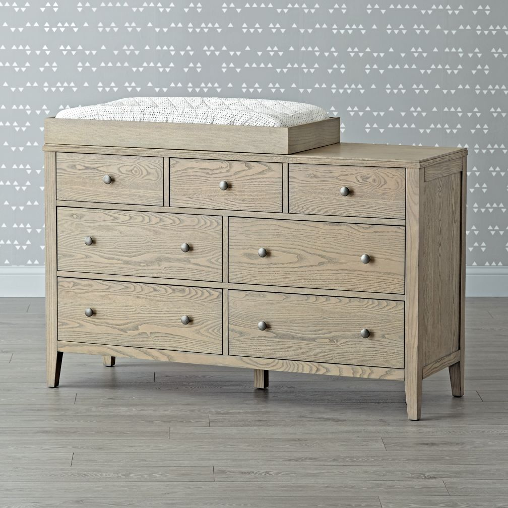Archway 7-Drawer Grey Stain Changing Table