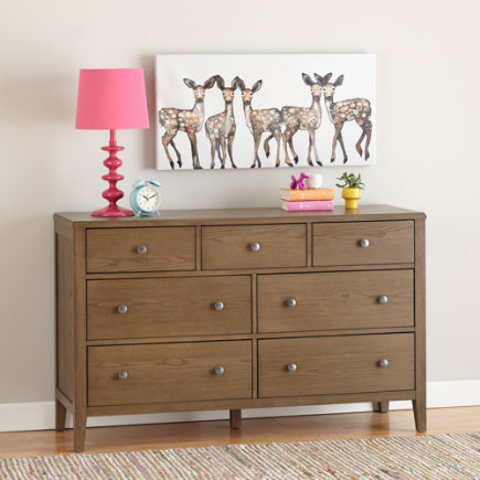 Bayside 7-Drawer Dresser (Cocoa) - Cocoa 7-Drawer Archway Dresser