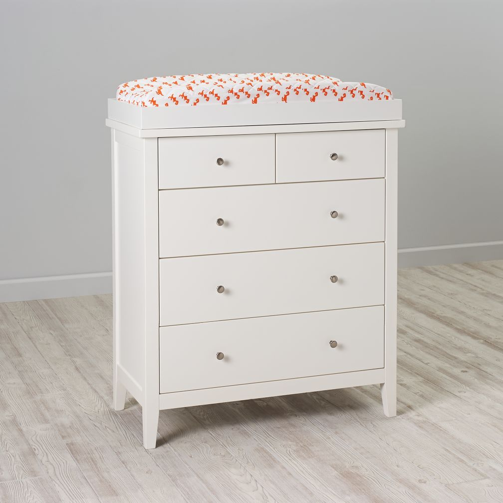Blake 2-Over-3 Changing Table (White)