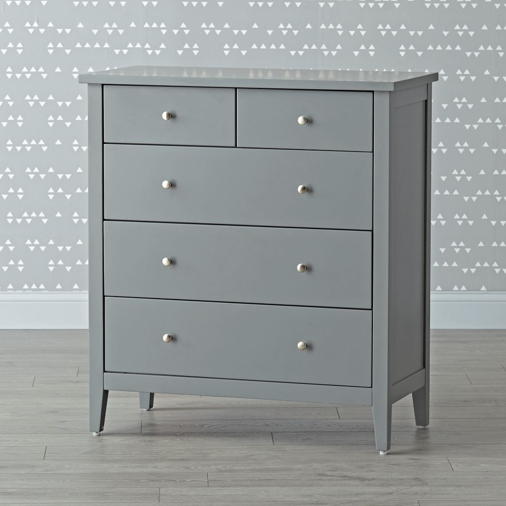 Blake Grey 5-Drawer Dresser