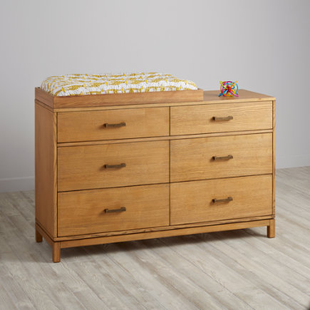 Cargo 6-Drawer Changing Table (Natural) - Natural Cargo 6 Drawer Dresser