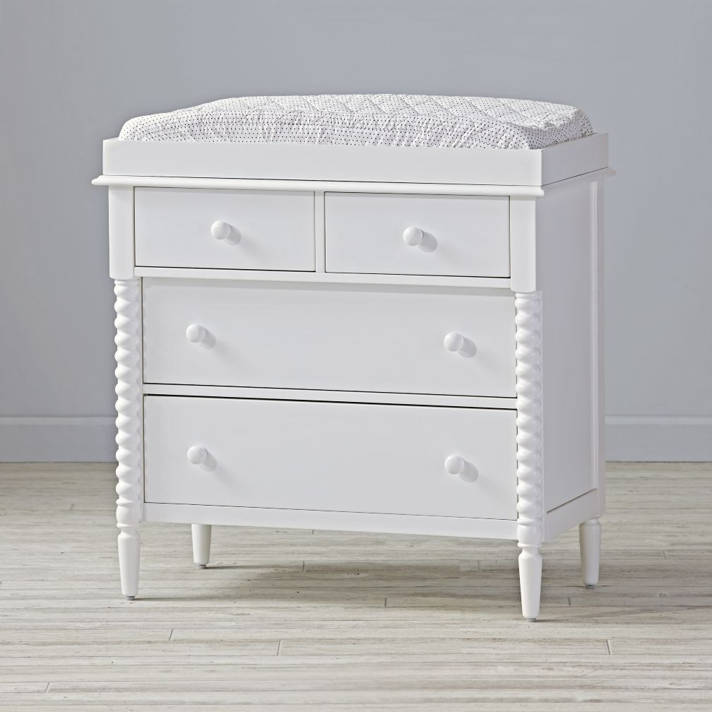 Jenny Lind White 4-Drawer Changing Table