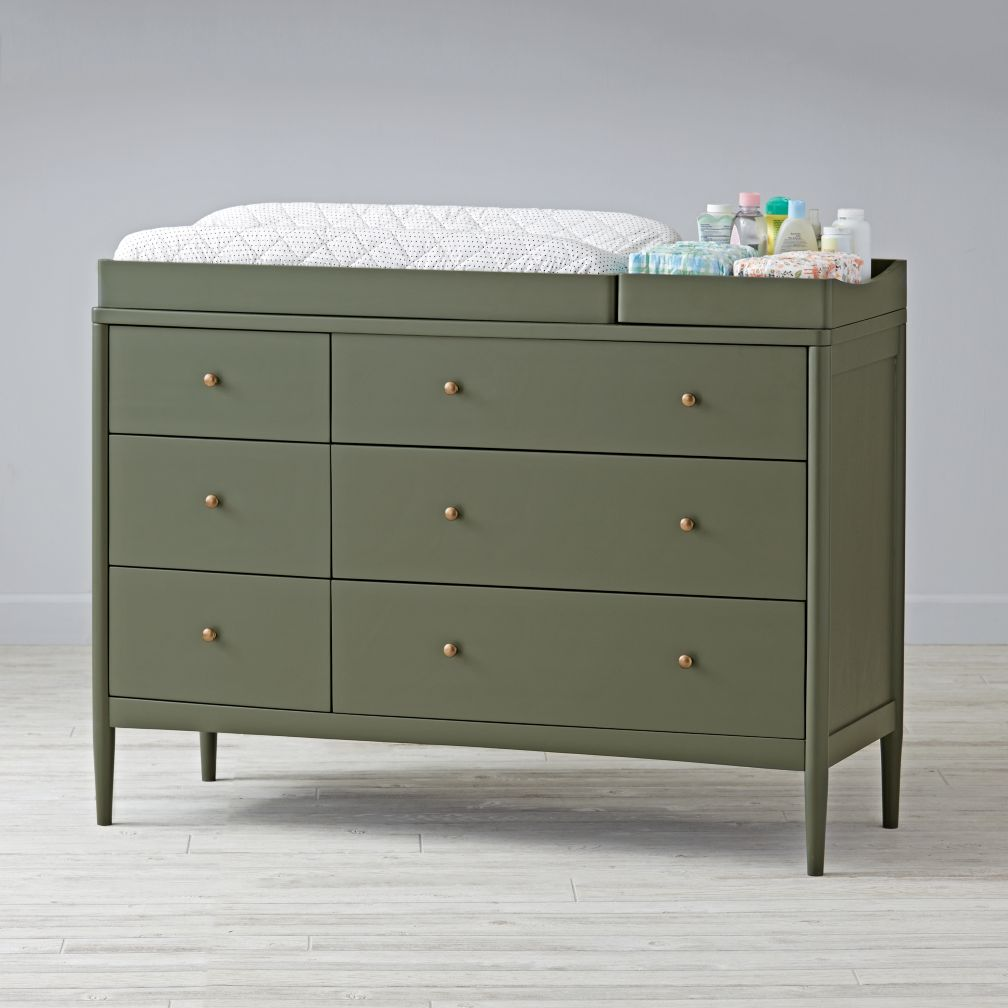 Hampshire 6-Drawer Changing Table (Olive)
