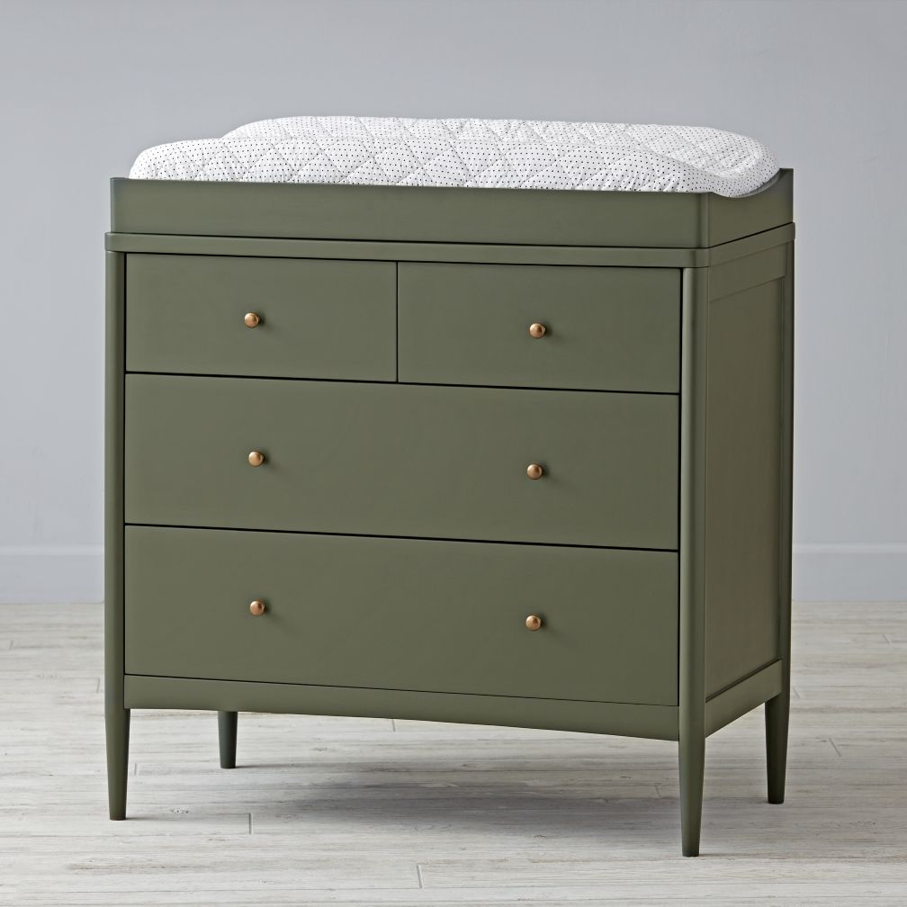 Hampshire 2-Over-2 Changing Table (Olive)