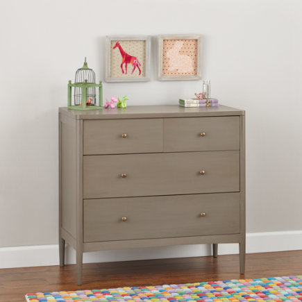 Neutral Hampshire 4-Drawer Dresser (Clay) - Clay Hampshire 2-Over-2 Dresser