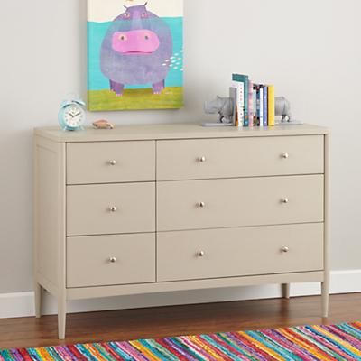 Hampshire 6-Drawer Dresser (Stone)