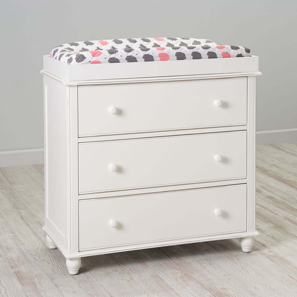 Jenny Lind 3-Drawer Changing Table (White)