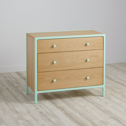 Larkin 3-Drawer Dresser (Mint) - Mint Larkin 3-Drawer Dresser