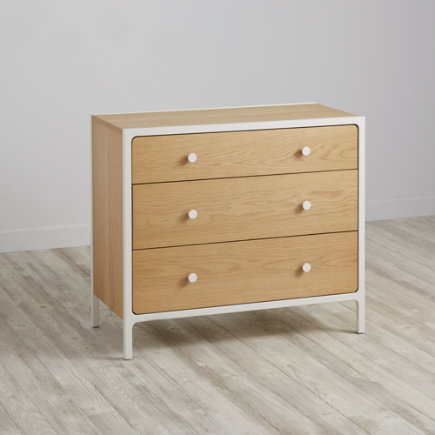 Larkin 3-Drawer Dresser (White) - White Larkin 3-Drawer Dresser