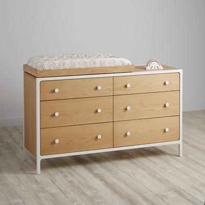 Larkin 6-Drawer Changing Table (White)