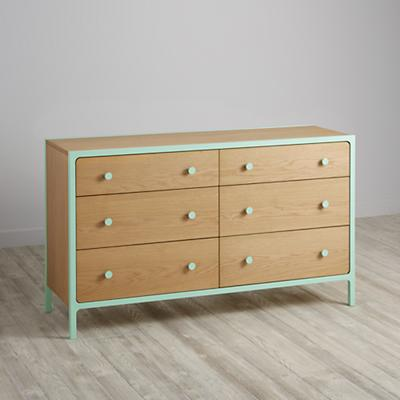 Larkin 6-Drawer Dresser (Mint)
