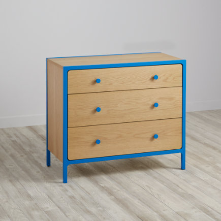 Primary 3-Drawer Dresser (Blue) - Blue Primary 3-Drawer Dresser
