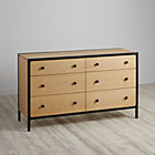 Black Primary 6-Drawer Dresser.