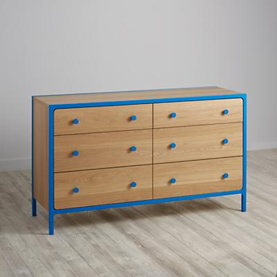 Primary 6-Drawer Dresser (Blue)