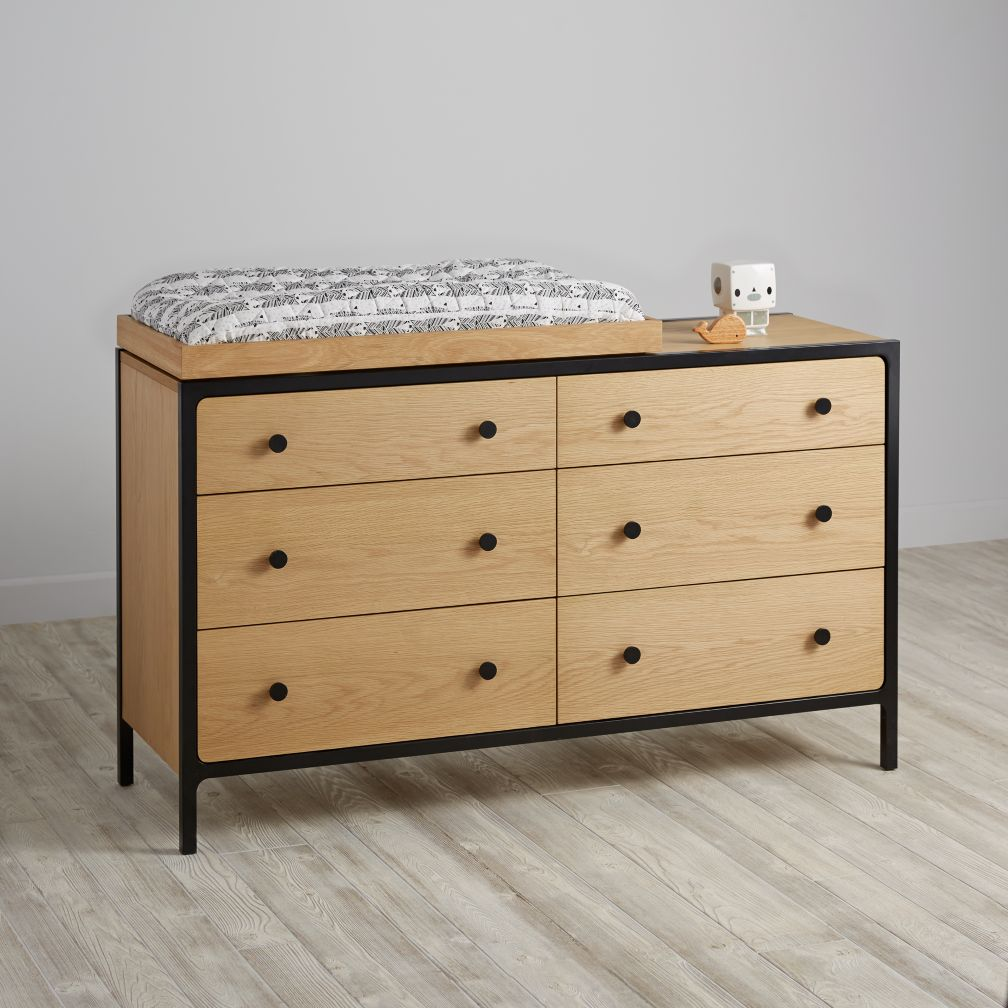 Primary 6-Drawer Changing Table (Black)
