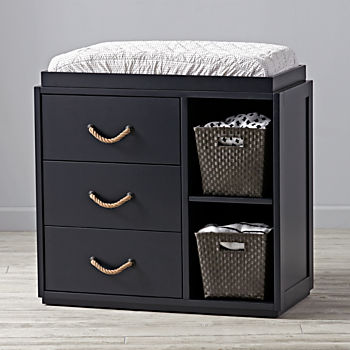 Topside Midnight Blue 3-Drawer Changing Table