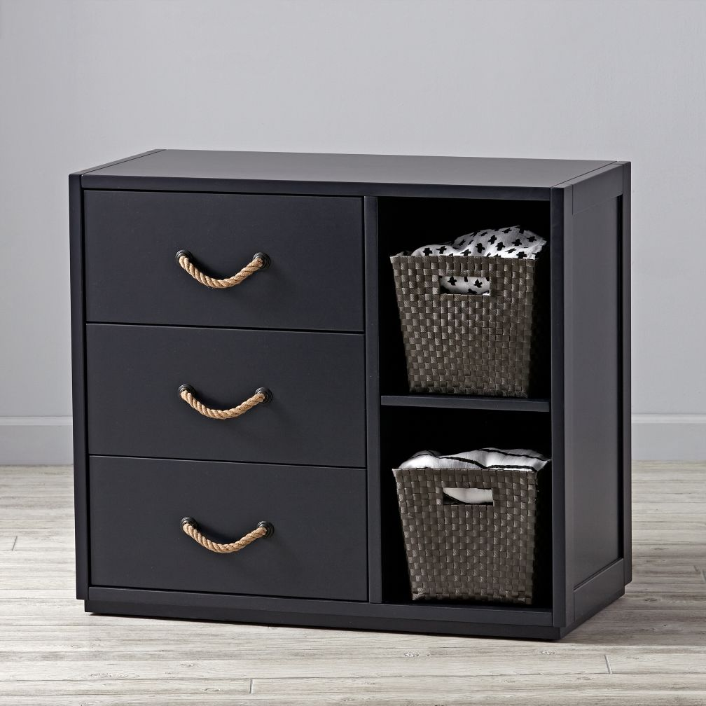 Topside Midnight Blue 3-Drawer Dresser