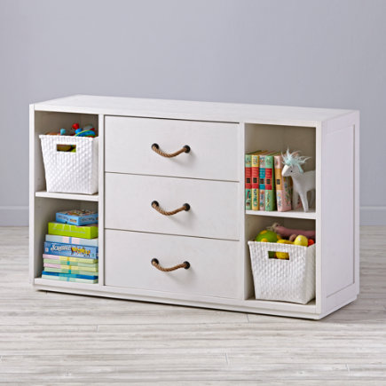 Topside White Glaze Wide Changing Table