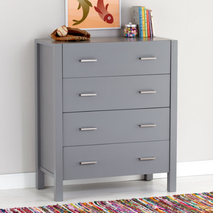 Grey Uptown 4-Drawer Dresser