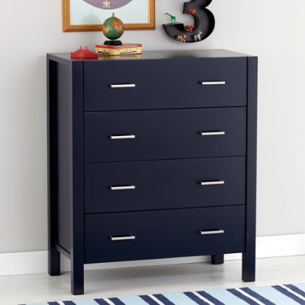 Midnight Blue 4-Drawer Dresser