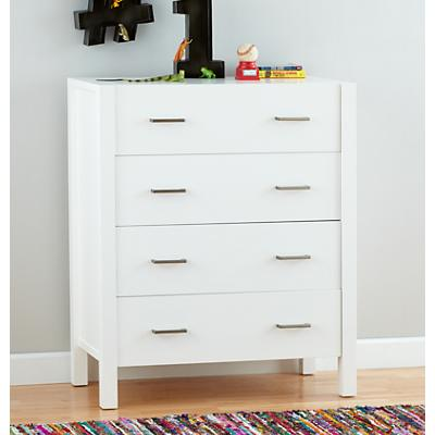 Uptown 4-Drawer Dresser (White)