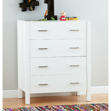 - Uptown 4-drawer White Dresser