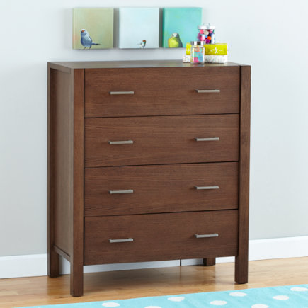 Uptown 4-Drawer Dresser (Brown) - Brown Uptown 4-Drawer Dresser
