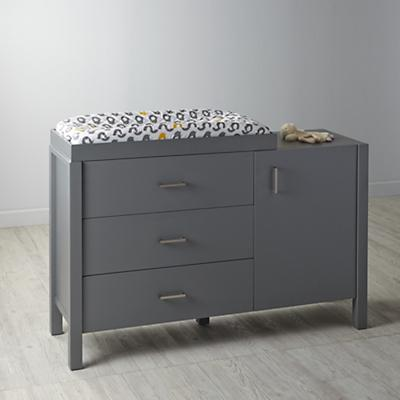 Uptown Wide Changing Table (Grey)