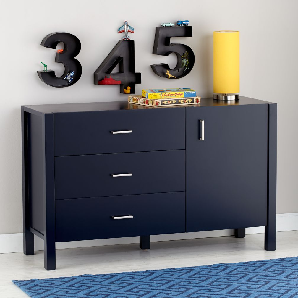 Uptown Midnight Blue Wide Dresser
