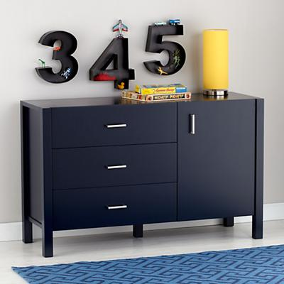 Uptown Wide Dresser (Midnight Blue)