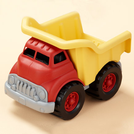 Kids Earth Friendly Toys: Kids Recycled Material Eco Truck Toy - Red Eco Dump Truck