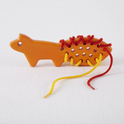 Kids Arts and Crafts: Kids Fox Lacing Games - Lacing Red Fox
