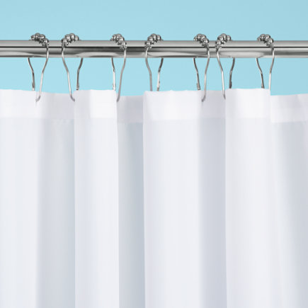 Kids Bathroom Gear: Kids Fabric Curtain Liner - Fabric Shower Curtain Liner