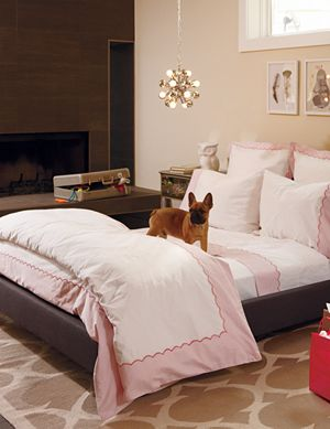 Twin Pink Extended Stay Duvet Cover