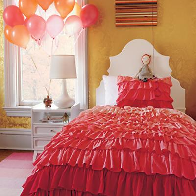 Full-Queen Fade to Pink Duvet Cover
