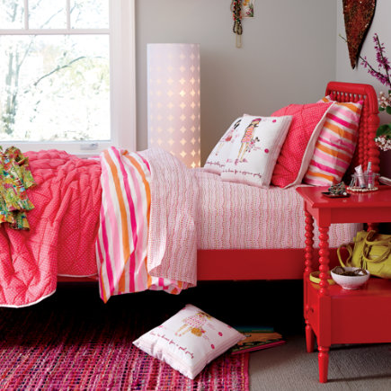 Neon Pink Polka Dot Quilt - Twin Pink Neon Sprinkle Quilt