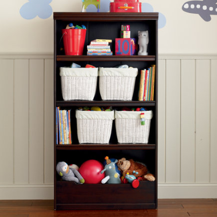 Kids Bookcases Espresso Flat Top With Adjule Shelves Bookcase