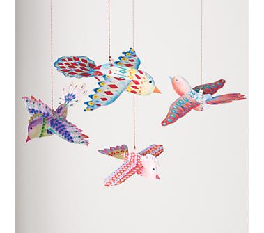 Kids Hanging D cor Kids Colorful and Bright Hanging Birds from landofnod.com