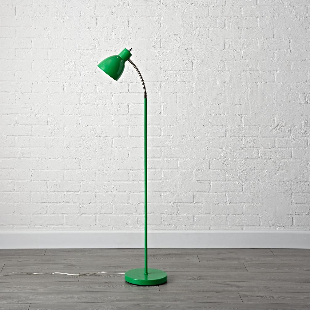 Bright Idea Green Floor Lamp