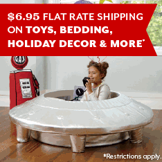 $6.95 Flat Rate Shipping on toys, holiday decor and more. Restrictions apply.