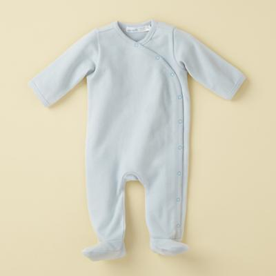 0-3 mos. Blue Footie