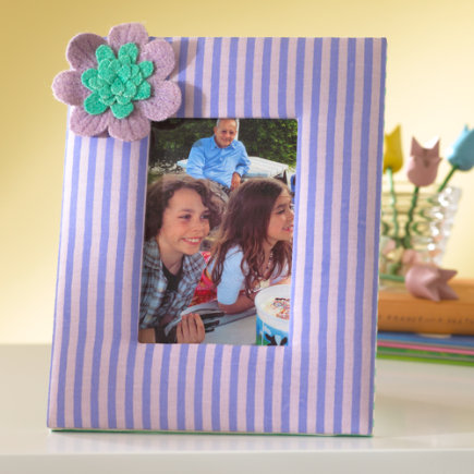 Kids Decorative Accents: Kids Fabric Picture Frames - Purple Fabric Frame