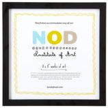 "11 x 11"" Nod Institute of Art Frame (Black)"
