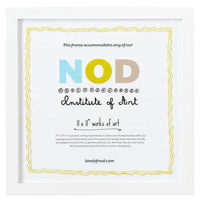 "11 x 11"" Nod Institute of Art Frame (White)"