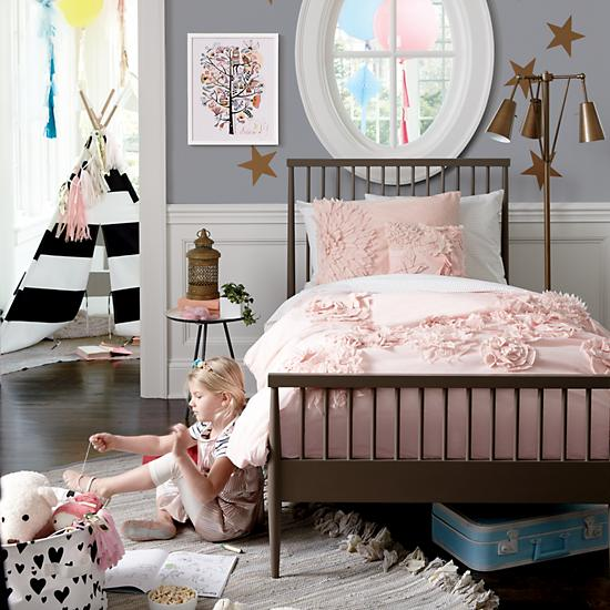 Fresh Cut Floral Girls Bedding The Land Of Nod