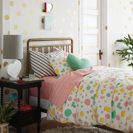 Pattern Party Girls Bedding - Twin Pattern Party Duvet Cover