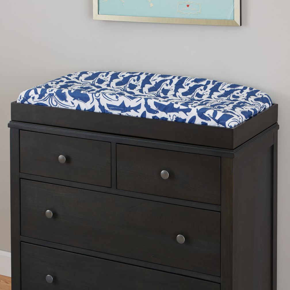 Bayside 2-Over-2 Changing Table (Denim)